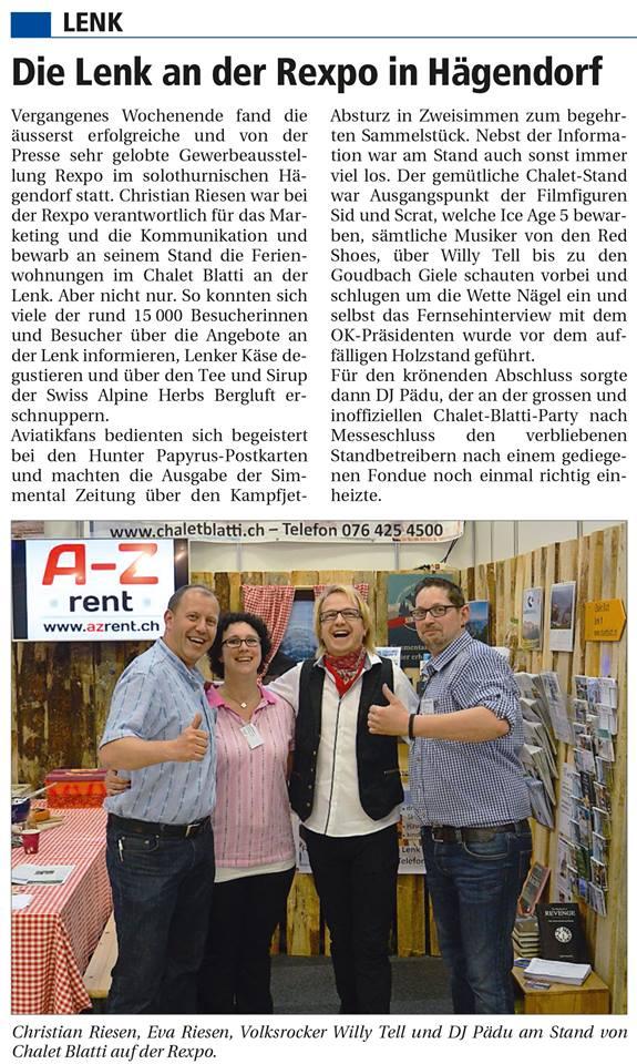 Simmentaler Zeitung vom 9.6.2016